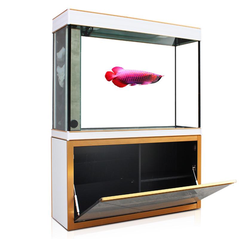 汉霸水族 大型鱼缸水族箱 玻璃屏风底滤鱼缸 长方形创意生态鱼缸包邮