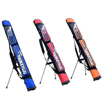 刀客經典魚竿包125cm雙層漁具包耐磨防壓帶支架釣竿包