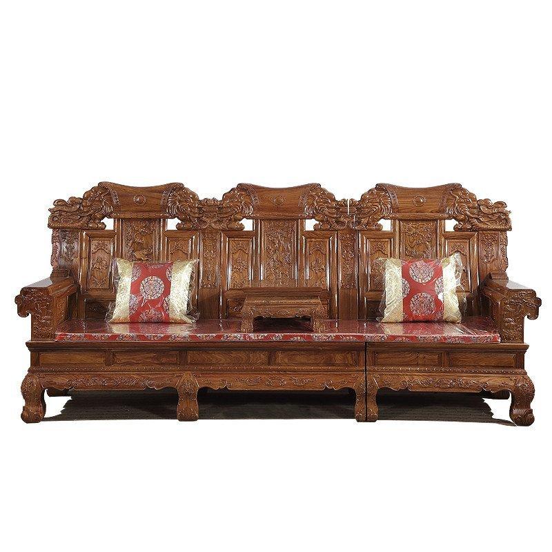 集一美红木家具红木沙发