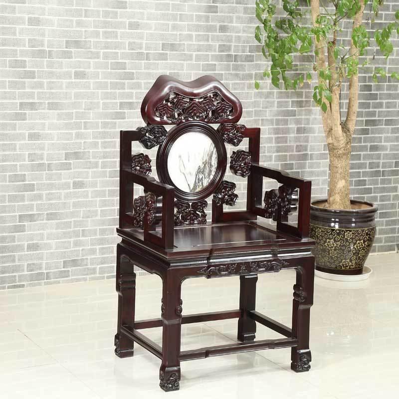 琪夢南美酸枝實木中式傳統家具中堂太師椅供桌八仙桌成套四件套組合圖片