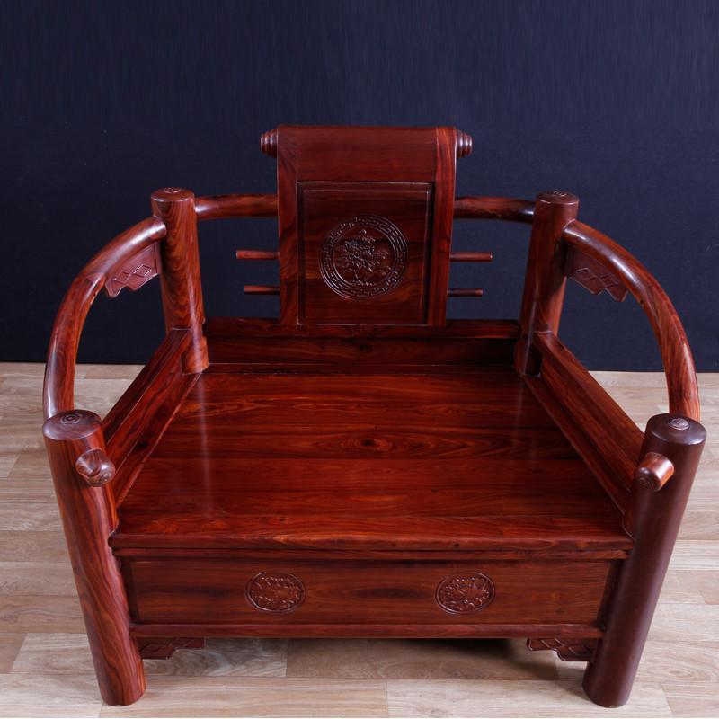 琪梦红木家具小叶红檀木书卷沙发六件套实木中式123组合雕花沙发图片