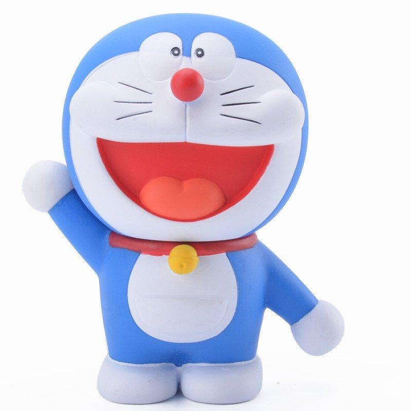 机器猫哆啦a梦手办叮当猫公仔纪念q版玩偶摆件玩具 d套五款10cm