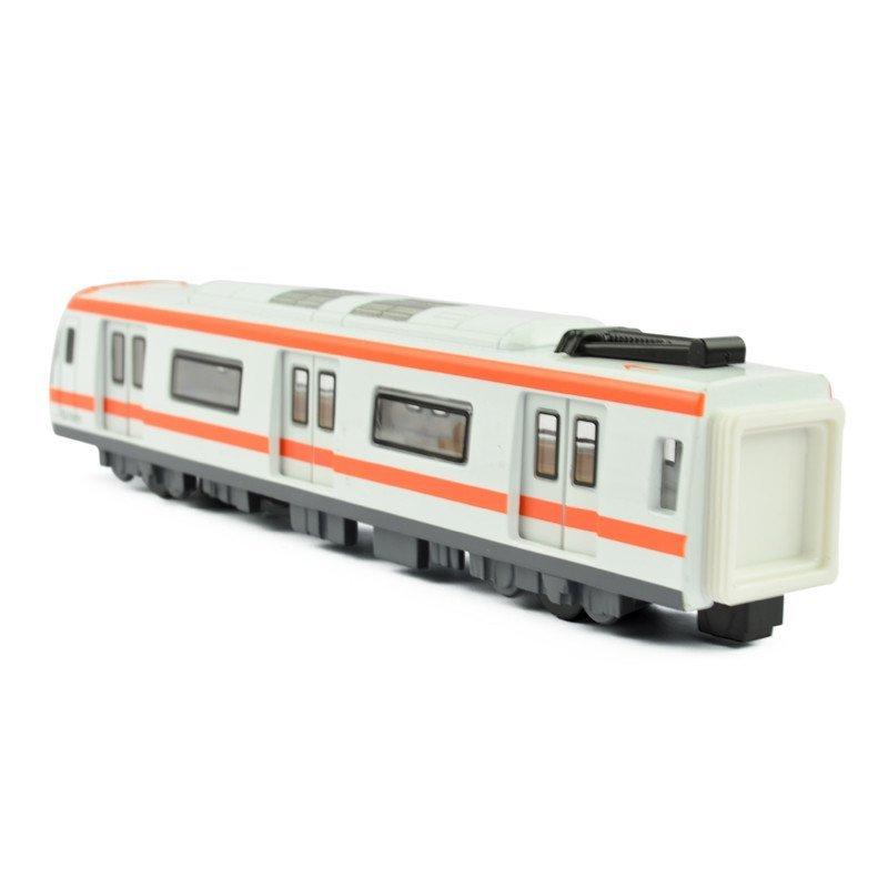 合金火车模型玩具蒸汽机车地铁线和谐号动车组金属玩具车 地铁电车