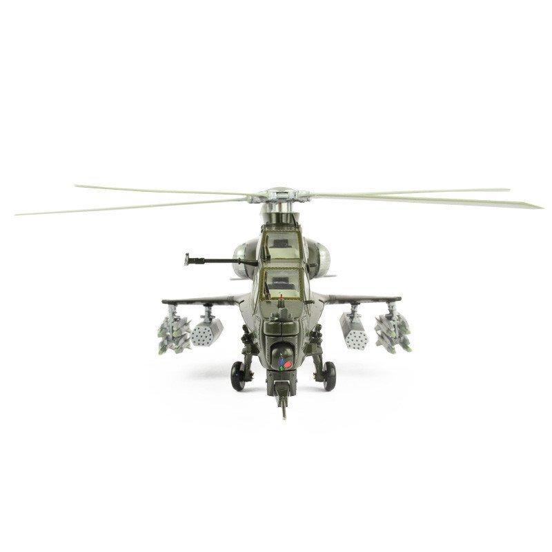 中国99式坦克歼15战机直升飞机仿真模型合金玩具模型摆件 武直10