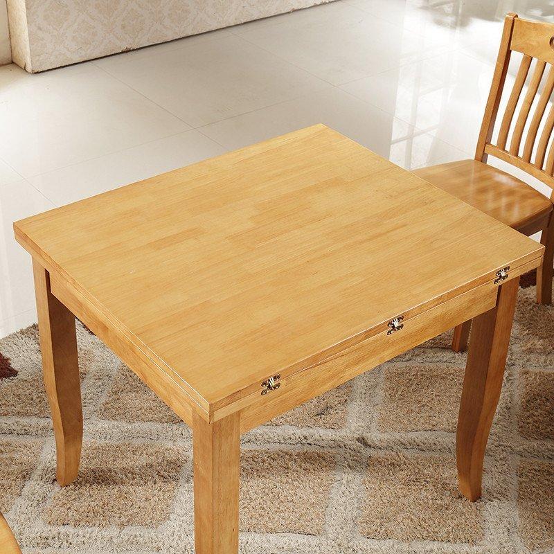 鲁菲特 餐桌 可伸缩折叠实木餐桌椅组合 饭桌子方桌 餐桌餐椅套装610