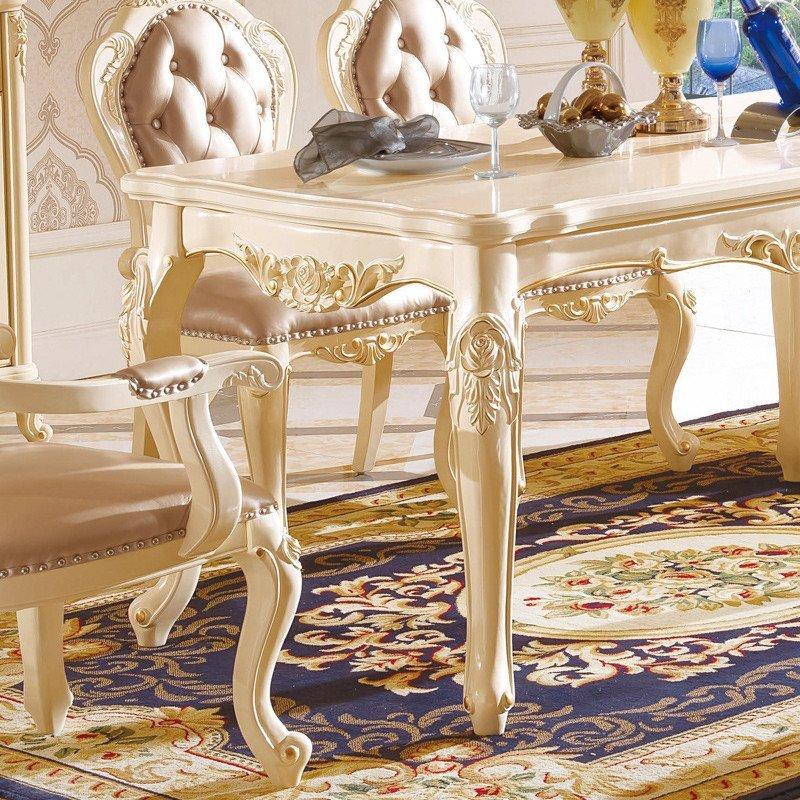 欧式实木餐桌椅组合