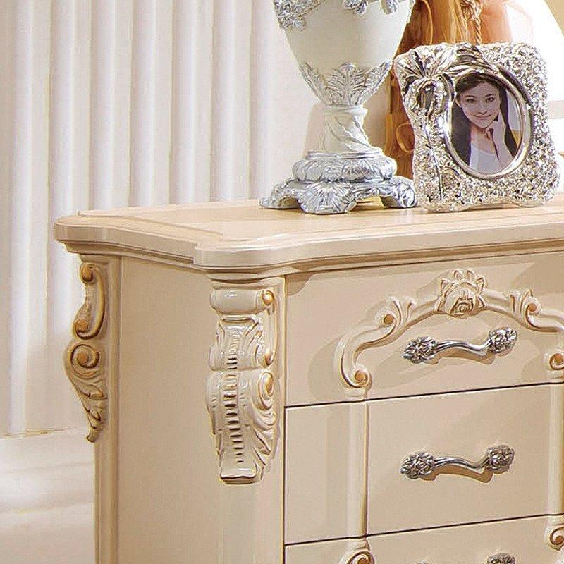 欧式实木床头柜 实木床边柜子