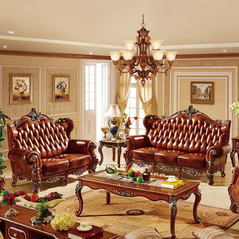 欧式沙发 实木沙发组合