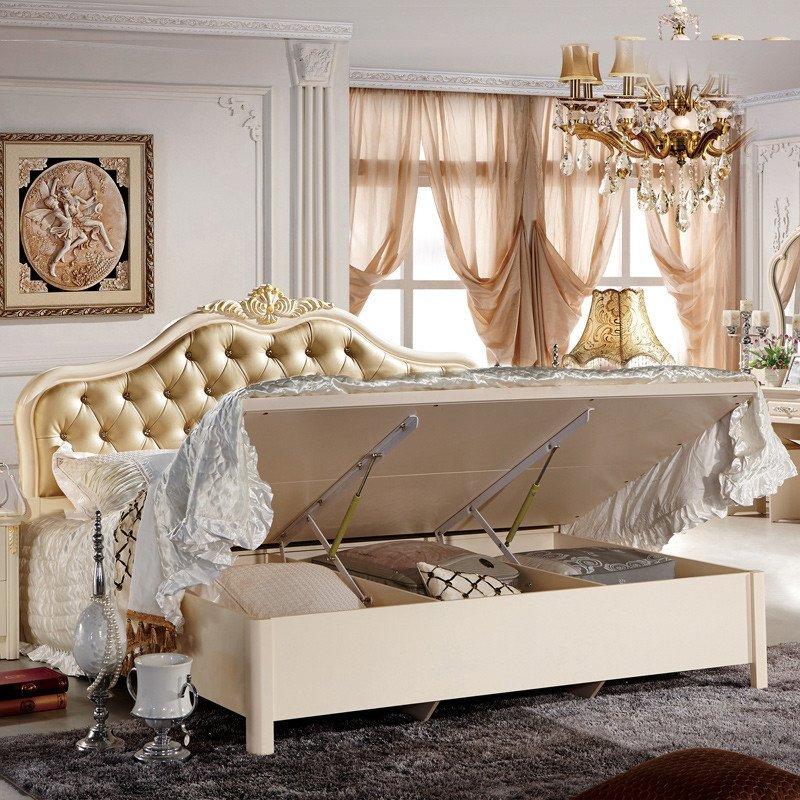 欧式床新款公主床真皮图片大全