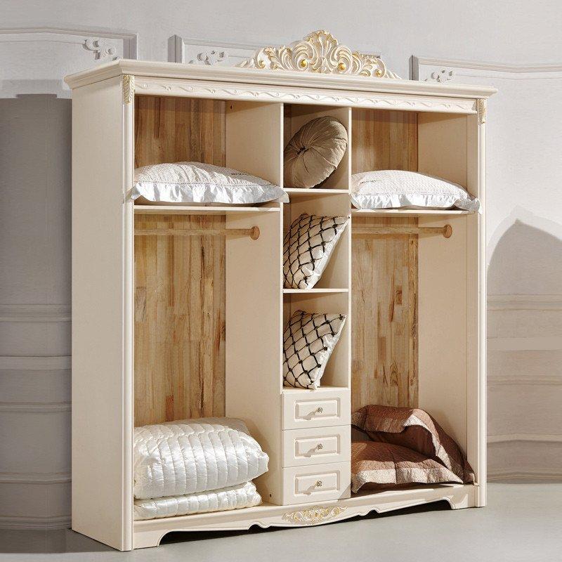 欧式五门衣柜 法式实木田园大衣橱衣服柜卧室