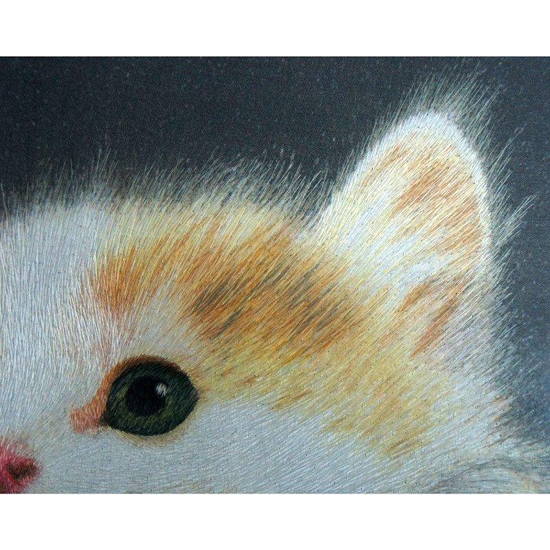 三景刺绣 苏州手工真丝刺绣 猫 外事商务特色创意礼品 中式欧式家居
