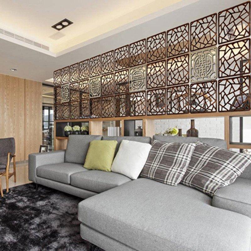 【京好】屏风 客厅 卧室办公玄关多功能木质 雕花镂空挂式隔断c141
