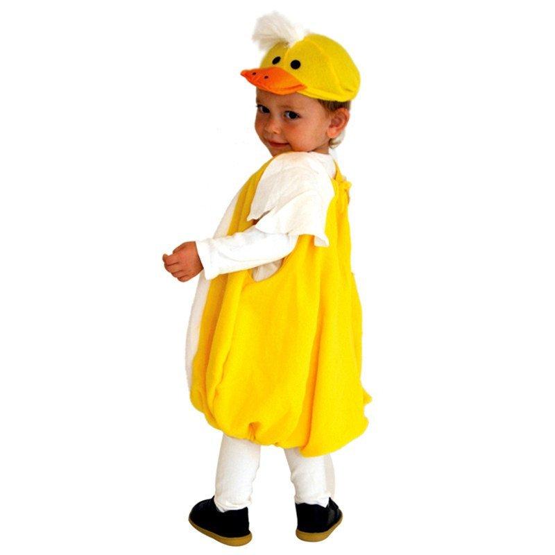 欢乐派对万圣节服装男童宝宝儿童演出服装动物服装可爱小鸭子衣服马甲