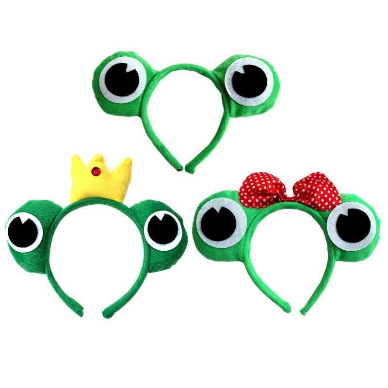 欢乐派对年会用品幼儿园动物头饰表演演出道具青蛙头饰道具青蛙头箍