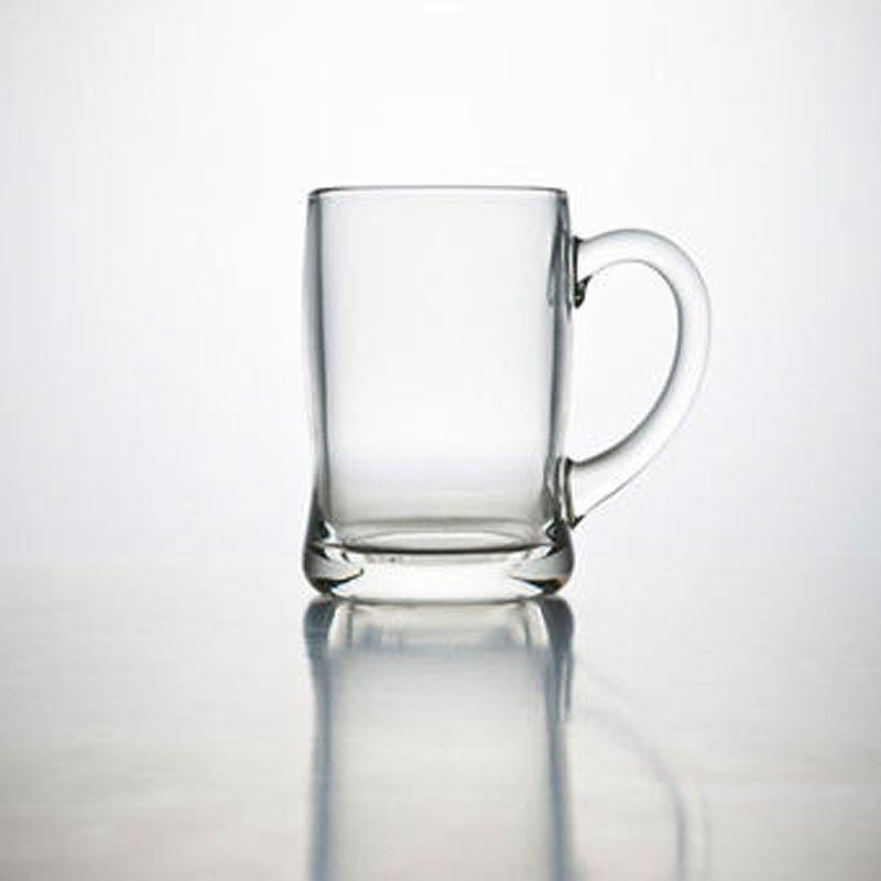 莱珍斯450ml班尼啤酒把杯玻璃杯扎啤杯饮料杯水杯威士忌酒杯带把加厚