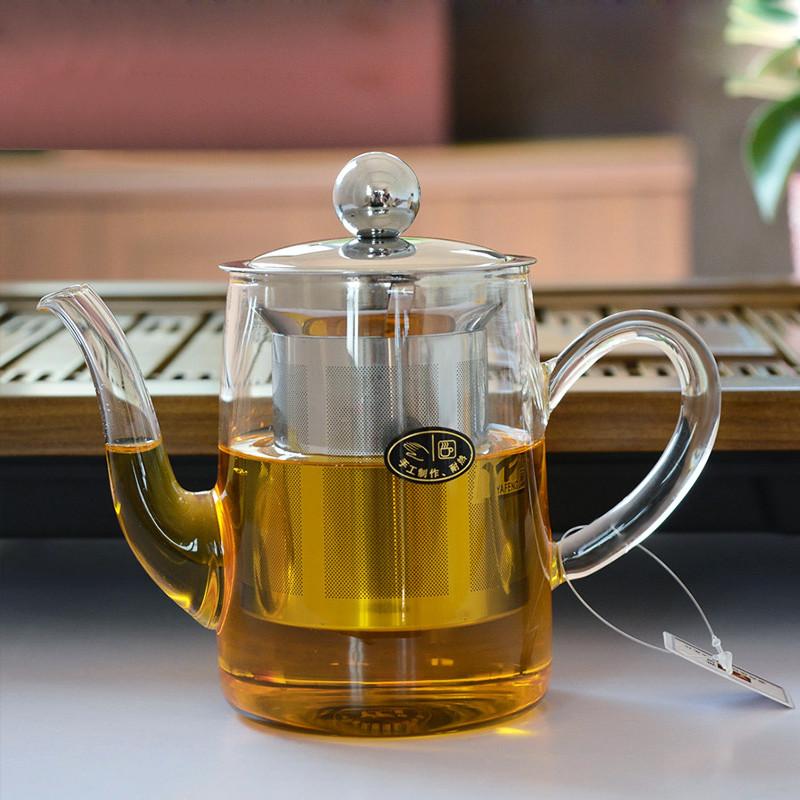 雅风益心壶 耐高温玻璃茶壶 泡花茶茶具带不锈钢过滤网 250ml