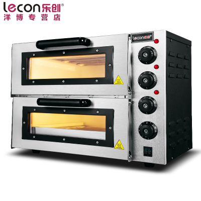 lecon/樂創洋博 PO2PT 商用烤箱 電烤箱商用 烤爐雙層蛋糕面包大烘爐設備 二層披薩 烤箱