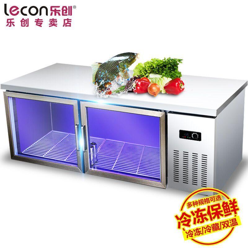 8米冷藏 商用蓝光冷藏操作台 冷柜 保鲜工作台 不锈钢卧式冰箱冰柜图片