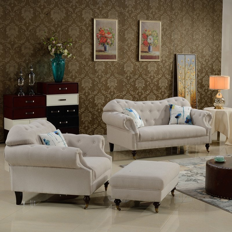 潮风尚 沙发布艺沙发客厅l型转角沙发组合小户型现代简约