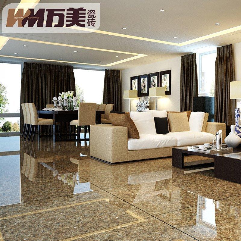 欧式客厅地砖墙砖仿大理石地板砖电视背景