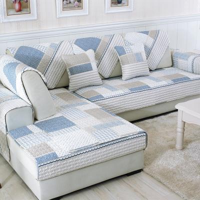 原色馨居 韓式四季沙發墊 格子棉質沙發墊 四季沙發套沙發罩 防滑沙發巾坐墊 靠墊 抱枕