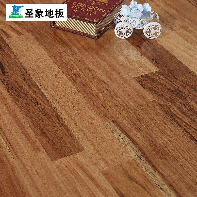 圣象地板 自带龙骨三层实木复合地板ky8307