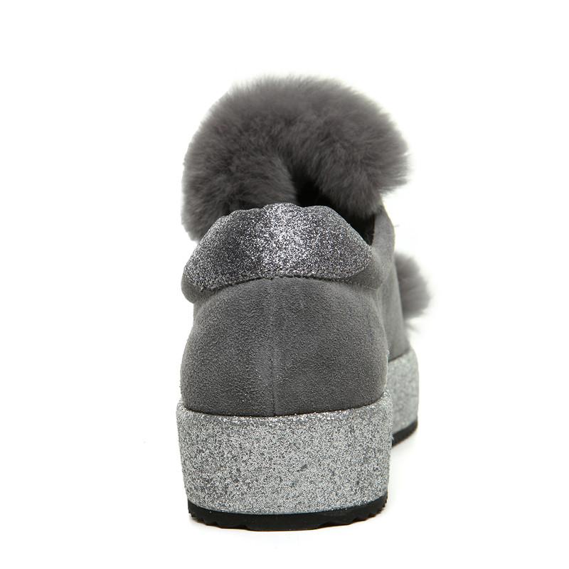 秋冬季韩版棉鞋女生冬天保暖女棉鞋兔毛防水短靴包子鞋加绒厚底平底