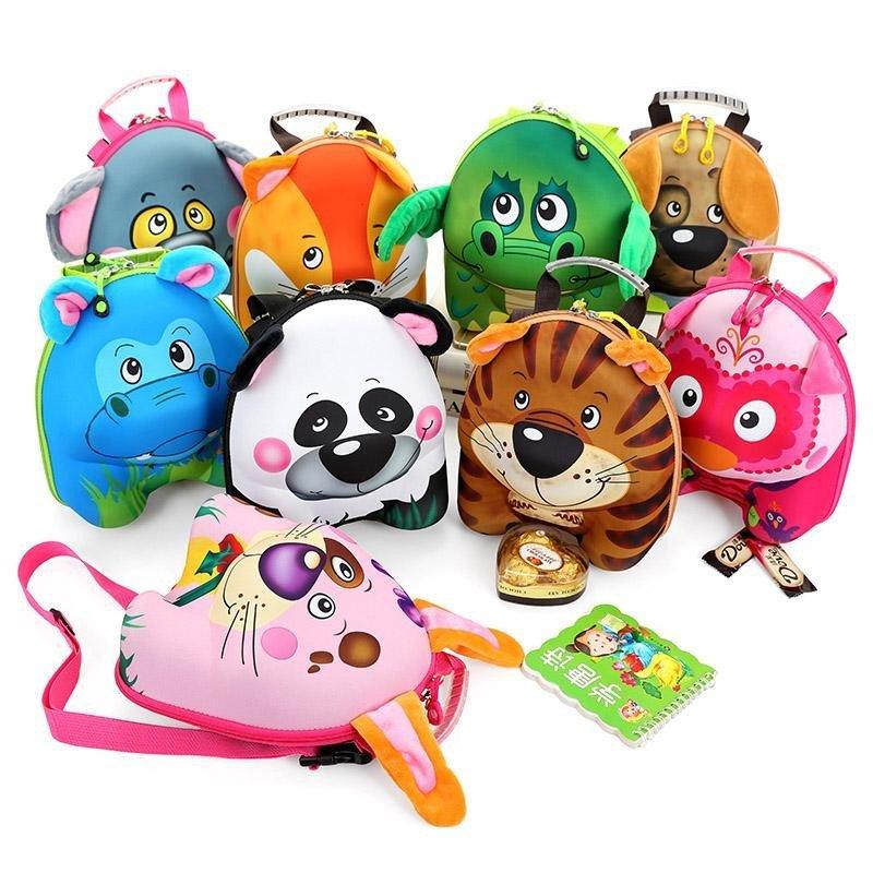 1-3岁宝宝书包双肩背包玩具蛋壳包幼儿园小班小动物