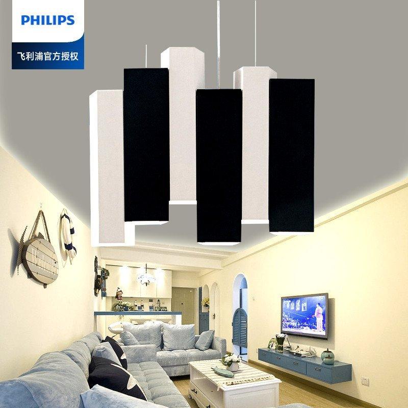 飞利浦鱼线吊灯led现代简约餐吊灯餐厅客厅灯创意个性