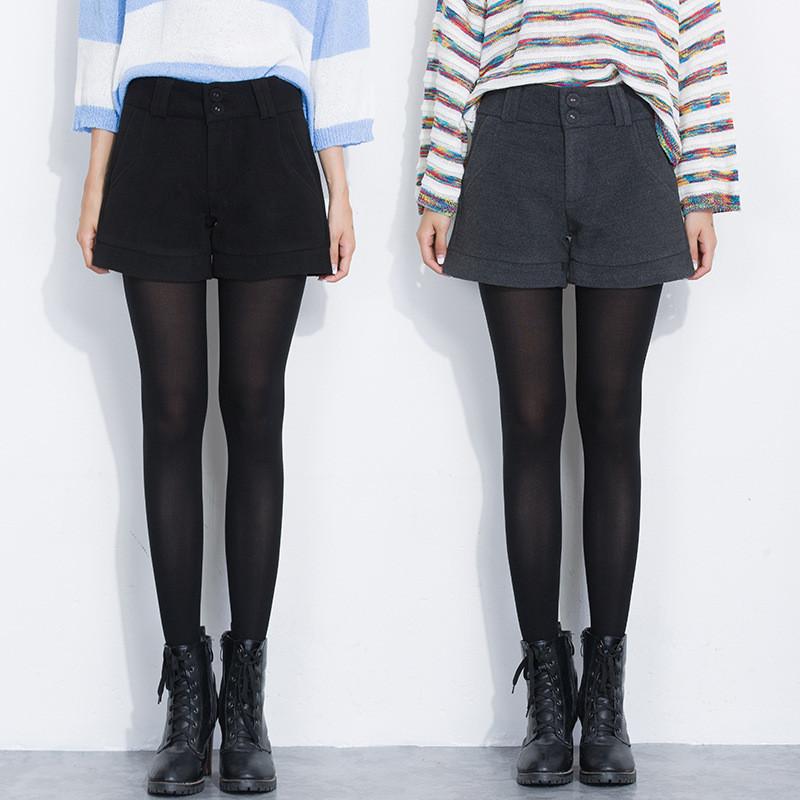 好看有里布的毛呢短裤冬季靴裤 好质量!