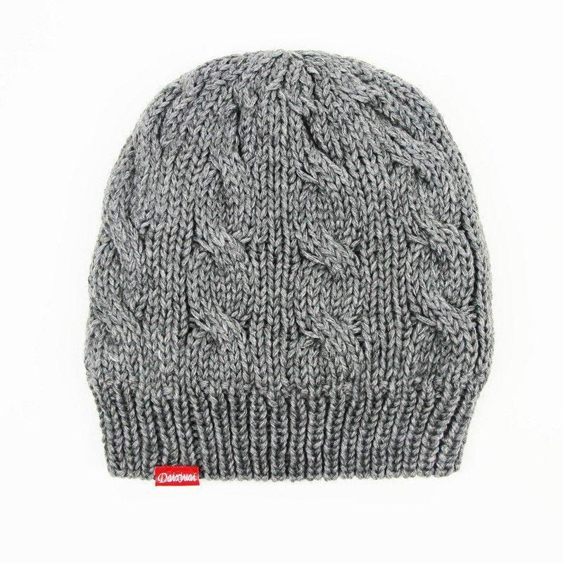 黛秀爱毛线帽子男冬季韩版时尚针织帽子加厚加绒冬天男士手工编织保暖