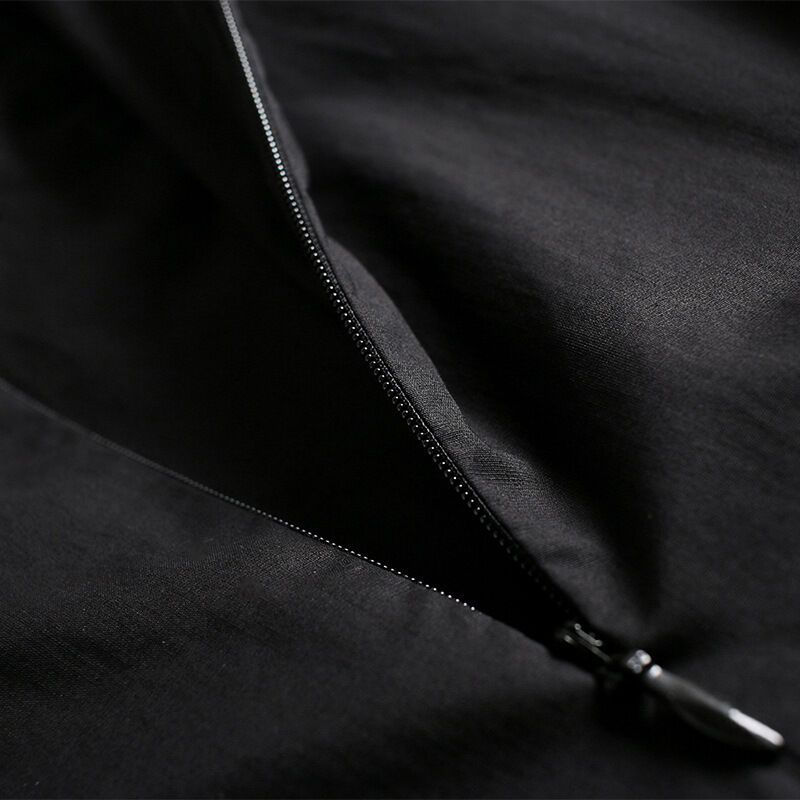 默蒂梵2017春夏女装新款欧美时尚中袖绣花亮片连衣裙黑色
