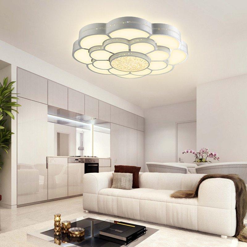 视贝led吸顶灯客厅主卧室创意水晶灯饰大灯大气圆形新中式灯具图片