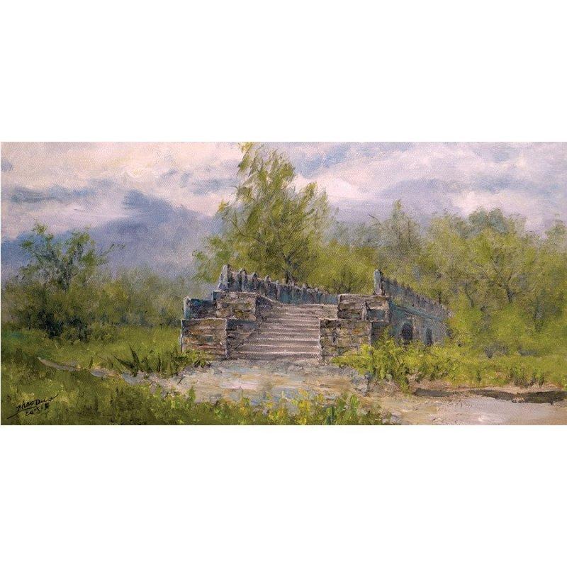 国家装帧协会会员 吴赵铎油画作品《风景2》40x80cm 知何堂艺术品
