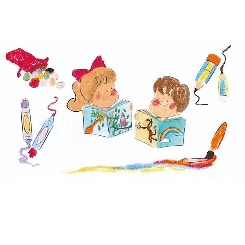 美国crayon rocks酷蜡石儿童涂鸦绘本蜡笔伴侣 小猪环游世界之旅