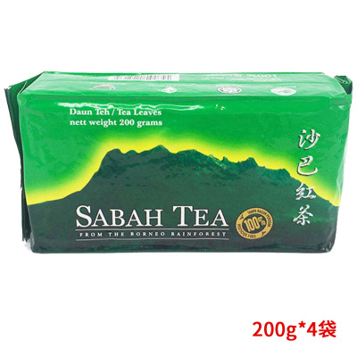 4袋装▏SABAH TEA 沙巴茶 沙巴红茶 茶叶 200g 马来西亚进口 袋装