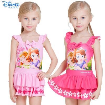 迪士尼(Disney)苏菲亚公主儿童泳衣速干卡通连衣裙游泳衣女童宝宝连体泳装