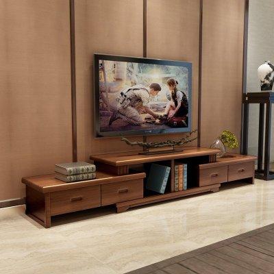 青木川 简约现代中式客厅家具实木电视柜 影视柜矮柜电视机柜子卧室地