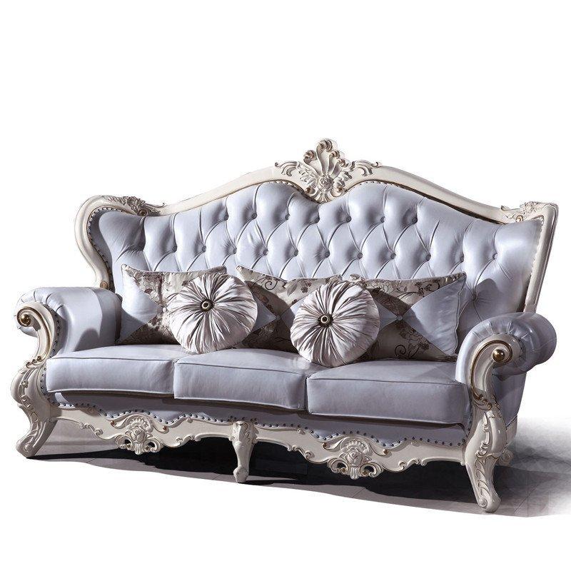 新款欧式真皮沙发 欧式实木沙发 大款客厅沙发 欧式别墅套房家具 可图片