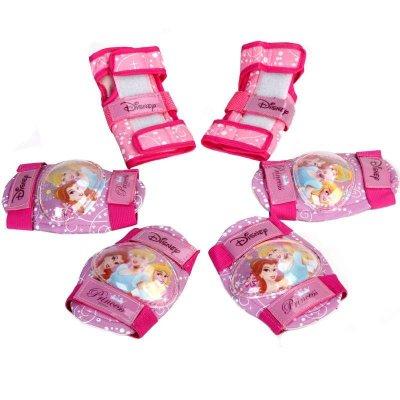 DISNEY/迪士尼儿童粉色公主护具护腕护膝护肘六件护具套装 滑板车溜冰鞋滑...