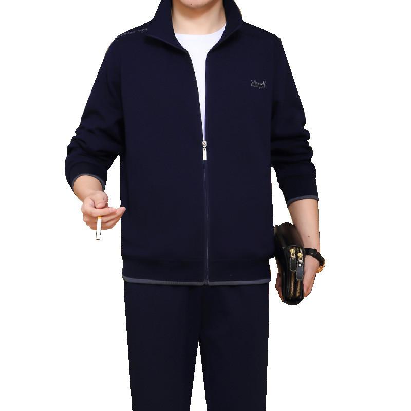 肥佬秋季服装_特大码加肥运动服套装男士秋季新款胖人肥佬宽松长袖长裤休闲运动套装