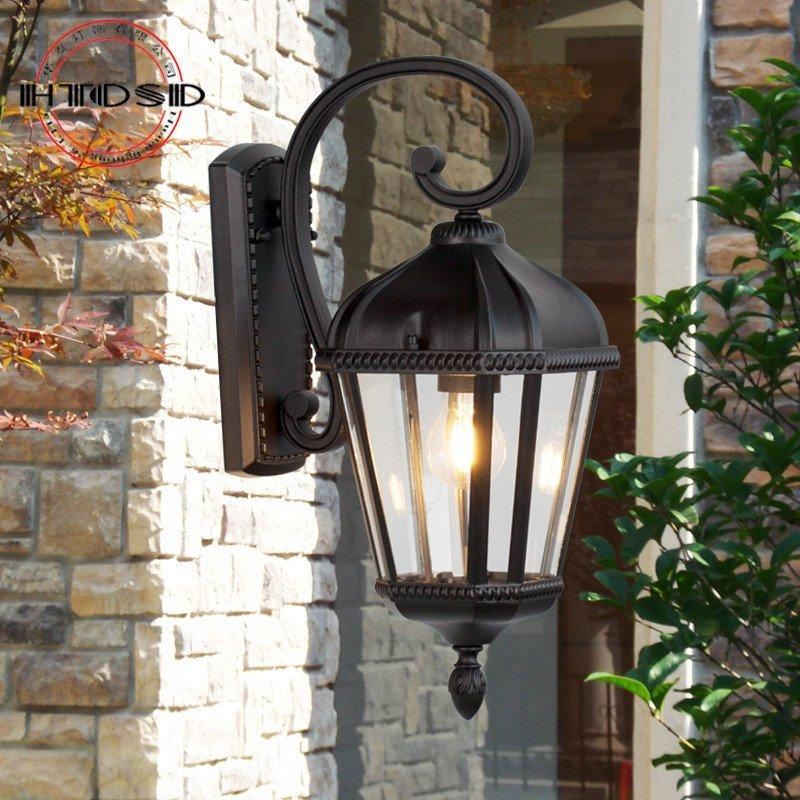户外欧式花园壁灯 防水别墅阳台庭院大门壁灯过道灯具走廊墙壁灯具