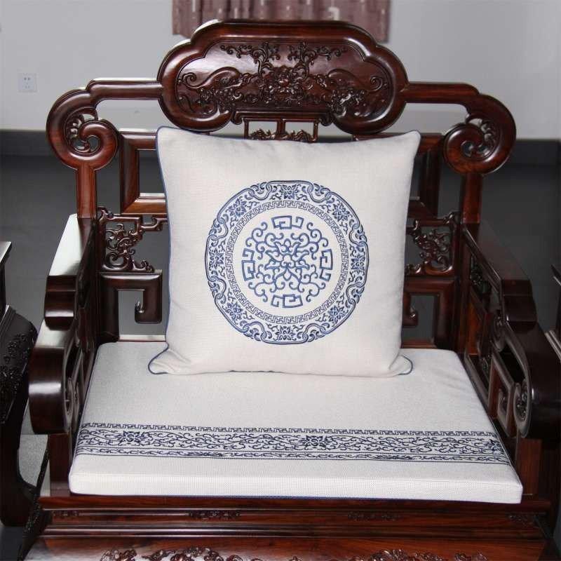 彩衣堂 中式红木沙发垫四季布艺防滑实木沙发坐垫