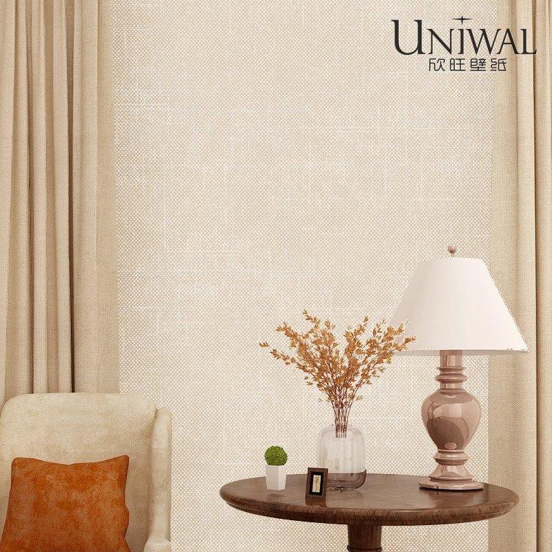 欣旺现代简约素色墙纸纯色无纺布壁纸 卧室客厅书房壁纸