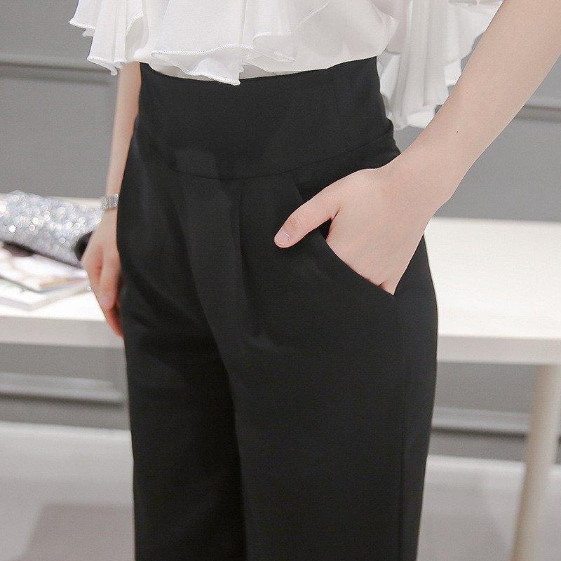 阔腿裤改成裙子的步骤