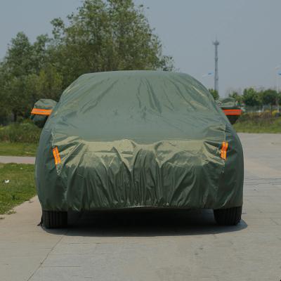 洛瑪 汽車車衣車罩 加厚防曬隔熱車套外罩 牛津布 一汽駿派D60 夏利N7 N5 N3 A+ 威志V5 V2 軍綠色
