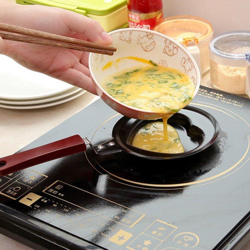 可爱创意迷你早餐煎锅 不粘小煎锅 煎蛋器 平底锅(单只)