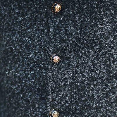 古莱登秋冬季商务风衣男 英伦短款修身呢大衣外套男装青年潮 xl 黑灰