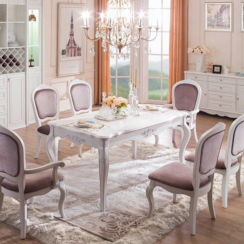 sogal索菲亚实木家具 定制衣柜 阿维尼翁欧式风格 餐厅餐桌椅组合图片