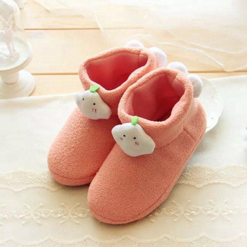 朵啦啦 云朵蚂蚁布保暖棉拖鞋 卡通创意家居拖鞋 鞋子图片